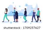coronavirus epidemic in urban... | Shutterstock .eps vector #1709257627