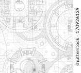 architectural blueprint. vector ... | Shutterstock .eps vector #170926139