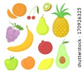 set of hand drawn ripe fruit ... | Shutterstock .eps vector #170926325
