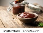 Barbecue Sauce In A Saucer Wit...