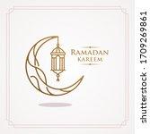 ramadan kareem  eid mubarak...   Shutterstock .eps vector #1709269861