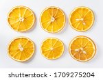 Dried Citrus On White Background