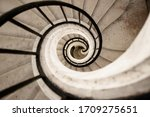 Old Vintage Spiral Staircase ...