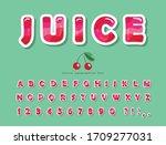 gloss pink summer trendy font.... | Shutterstock .eps vector #1709277031