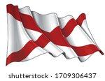 vector illustration of a waving ...   Shutterstock .eps vector #1709306437