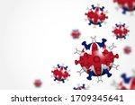 covid 19 . 3d floating corona... | Shutterstock .eps vector #1709345641