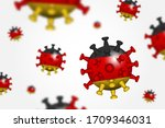 covid 19 . 3d floating corona...   Shutterstock .eps vector #1709346031
