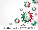 covid 19 . 3d floating corona... | Shutterstock .eps vector #1709349991
