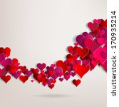 valentines day. abstract paper...   Shutterstock . vector #170935214