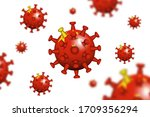 covid 19 . 3d floating corona... | Shutterstock .eps vector #1709356294