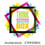 think outside the box creative... | Shutterstock .eps vector #170935841
