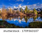 Grand Tetons Reflected In A...