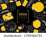 cheese design template. hand... | Shutterstock .eps vector #1709366731