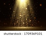 stage light and golden glitter... | Shutterstock .eps vector #1709369101