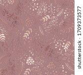 elegant floral pattern. rose... | Shutterstock .eps vector #1709373577