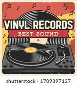 vinyl records and music player  ...   Shutterstock .eps vector #1709397127