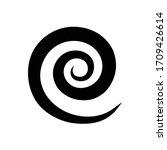 black round swirl isolated icon ... | Shutterstock .eps vector #1709426614