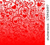 valentine's day background with ... | Shutterstock .eps vector #170943497