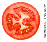 slice of tomato isolated on... | Shutterstock . vector #170943899