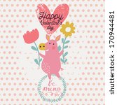 cute funny pig with flowers in... | Shutterstock .eps vector #170944481