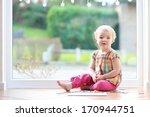 adorable little blonde toddler... | Shutterstock . vector #170944751
