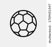 soccer ball icon isolated on...