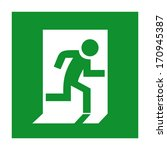 emergency exit sign | Shutterstock .eps vector #170945387