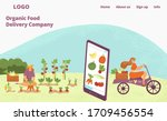 organic fresh food delivery... | Shutterstock .eps vector #1709456554