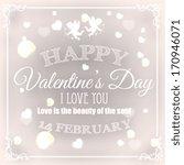 valentine's day card | Shutterstock .eps vector #170946071