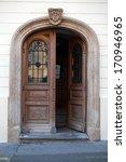 Old Wooden Door In Upper Town...