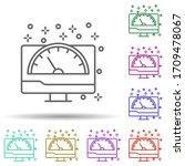computer monitor speedometer...