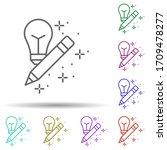 light bulb pencil multi color...