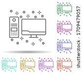 computer personal multi color...
