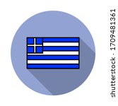 national flag of greece in...