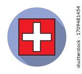 national flag of switzerland in ...