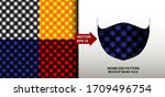 abstract. gingham background... | Shutterstock .eps vector #1709496754