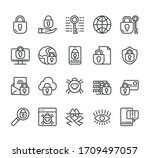 data protection personal... | Shutterstock .eps vector #1709497057