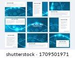 big set of vector templates for ... | Shutterstock .eps vector #1709501971