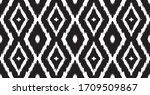 lace border. ikat seamless... | Shutterstock .eps vector #1709509867