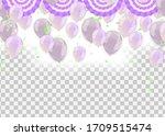 happy birthday rainbow color... | Shutterstock .eps vector #1709515474
