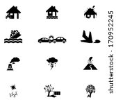 accident icons set | Shutterstock .eps vector #170952245