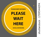 please keep distance  please... | Shutterstock .eps vector #1709544094