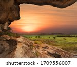 Sunset over the floodplains of Ubirr, Kakadu National Park, Northern Territory, Australia