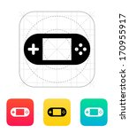 gamepad screen icon. vector...