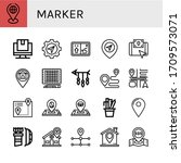 set of marker icons. such as... | Shutterstock .eps vector #1709573071