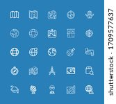 editable 25 geography icons for ... | Shutterstock .eps vector #1709577637