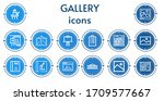 editable 14 gallery icons for...   Shutterstock .eps vector #1709577667