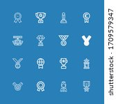 editable 16 contest icons for... | Shutterstock .eps vector #1709579347
