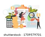 company budget planning ... | Shutterstock .eps vector #1709579701