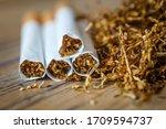 Cut Tobacco Leaves And Handmade ...